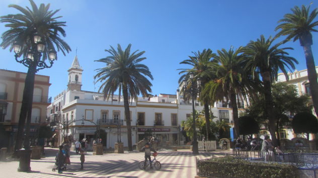 The main square, Ayamonte, Andalusia, Spain