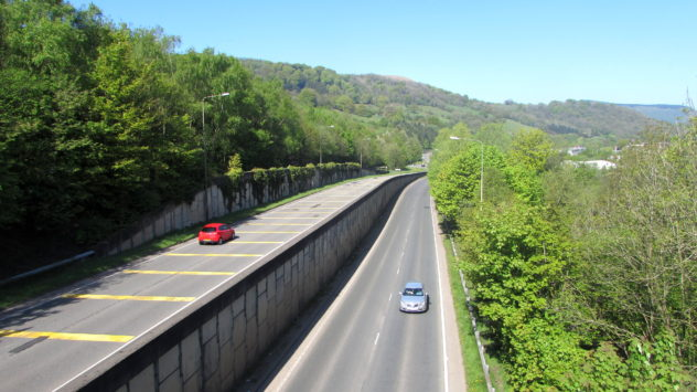 Risca bypass, Caerphilly Borough, South Wales, UK