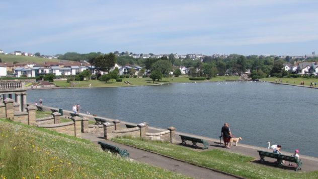Knap lake, Barry, Vale of Glamorgan, South Wales