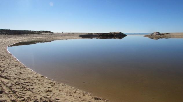 Lagoon at Praia dos Pescadores, Armacao de Pera