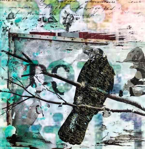 Fly From Heaven scaled Tracy Casagrande Clancy Encaustic Mixed Media