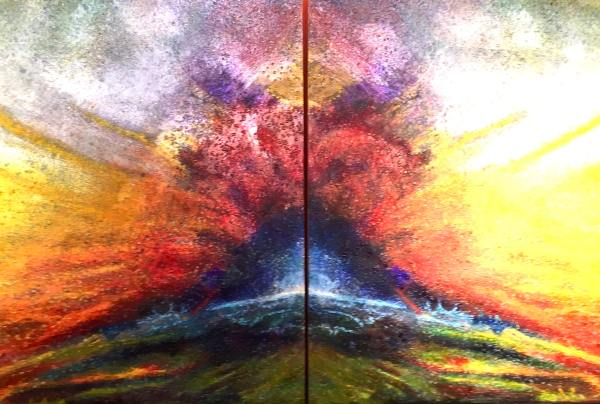 Duality of Evolution 2 Tracy Casagrande Clancy Encaustic Mixed Media