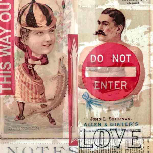 Love Notes set of 2 Tracy Casagrande Clancy Encaustic Mixed Media