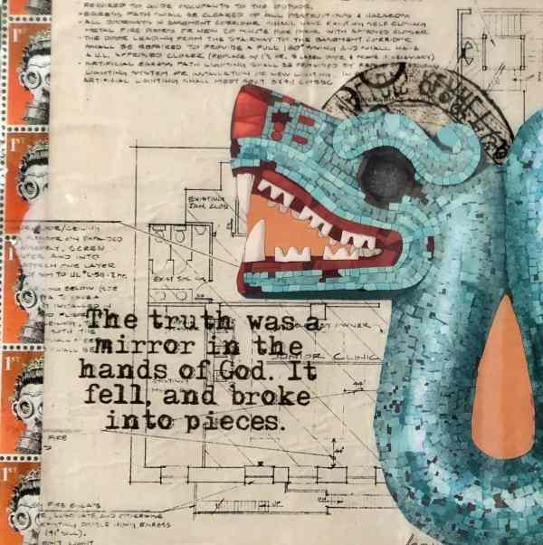 Mirror of Truth set of 3 3 Tracy Casagrande Clancy Encaustic Mixed Media