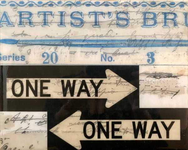 One Way scaled Tracy Casagrande Clancy Encaustic Mixed Media
