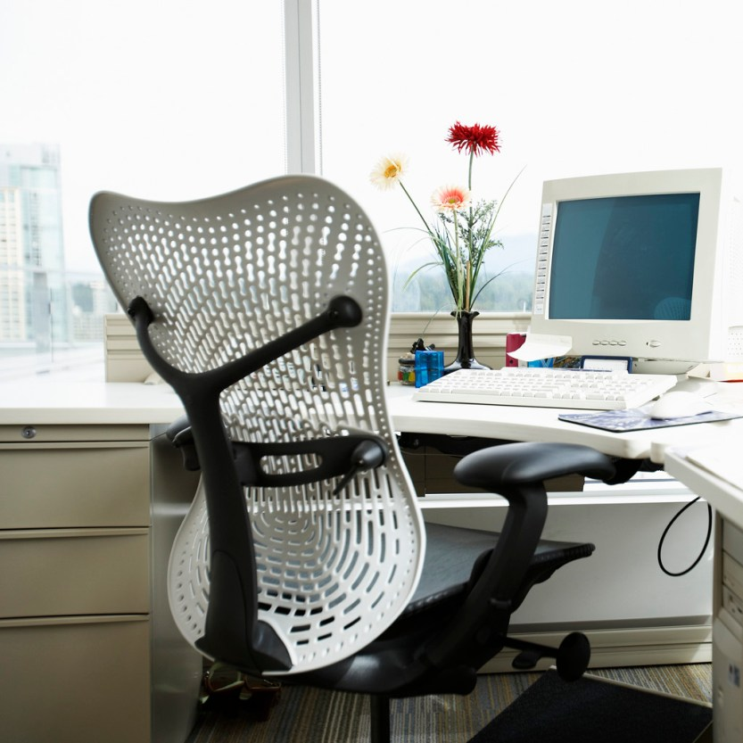 Empty Office Chair and Desk