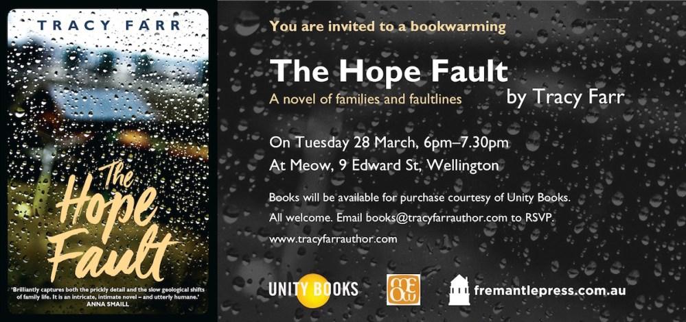 The Hope Fault - Wellington bookwarming