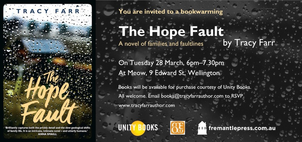 The Hope Fault - Wellington bookwarming