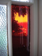 View through the front door, Signalman's House
