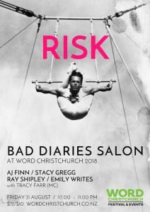 Bad Diaries Salon RISK at WORD Christchurch 2018