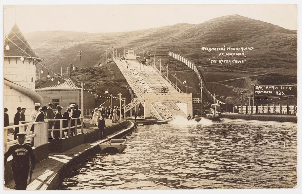 "Wellington's Wonderland at Miramar ""The Water Chute"", 1907"