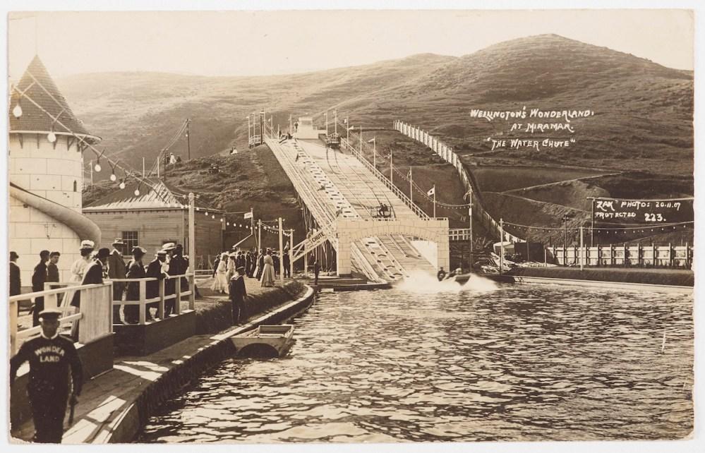 "Wellington's Wonderland at Miramar ""The Water Chute"", 1907"