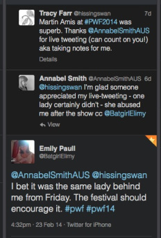 In which I appreciate the tweets of @AnnabelSmithAUS