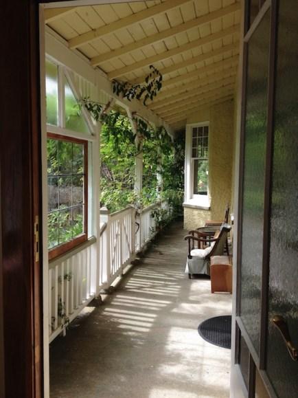 The side verandah, from my desk in the Mason room.