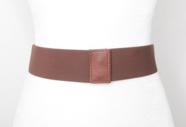 Tracy Gold Thrifted Tan leather woven belt