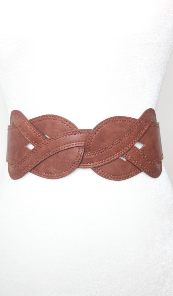 Tracy Gold Thrifted - Tan braided belt