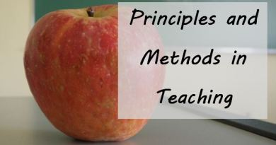 Principles and Methods in Teaching