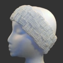 Basket Weave Headband, Cream