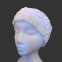 Basket Weave Head Band, Cream