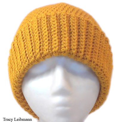 Cloche Beanie Hat, Golden