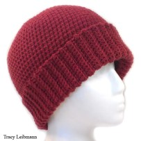 Cloche Beanie Hat, Redwood
