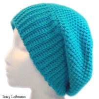 Cloche Beanie Hat Turquoise Blue $34