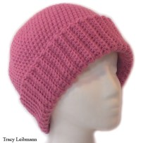 Cloche Beanie Hat Raspberry $34