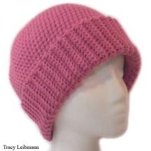 Cloche Beanie Hat Raspberry $34