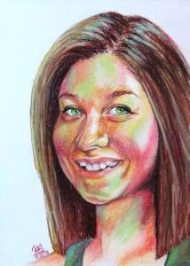 Self '15, Pastel on Paper, 2015