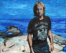 Keith Urban, Watercolor Pencil on Paper, 10x8 in, 2010 - SOLD