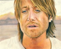 Keith Urban, Pastel on Paper, 10x8 in, 2013 - SOLD