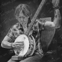 Keith Urban, Graphite on Paper, 24x24 in, 2015 - SOLD