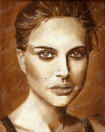 Natalie Portman, Oil Paint on Canvas, 8x10 in, 2012