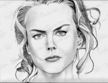 Nicole Kidman, Charcoal on Paper, 9.5x11 in, 2012