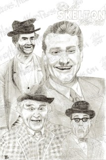 Red Skelton, Graphite on Paper, 7x10.75 in, 2009