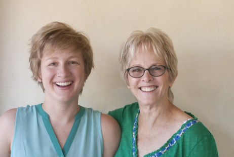 Photo of author/illustrator/artist Charlotte Dean and singer/songwriter Tracy Newman