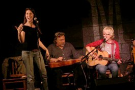 """tracy newman and the reinforcements performing """"aloha goodbye"""" at mccabe's guitar shop in santa monica in 2011"""