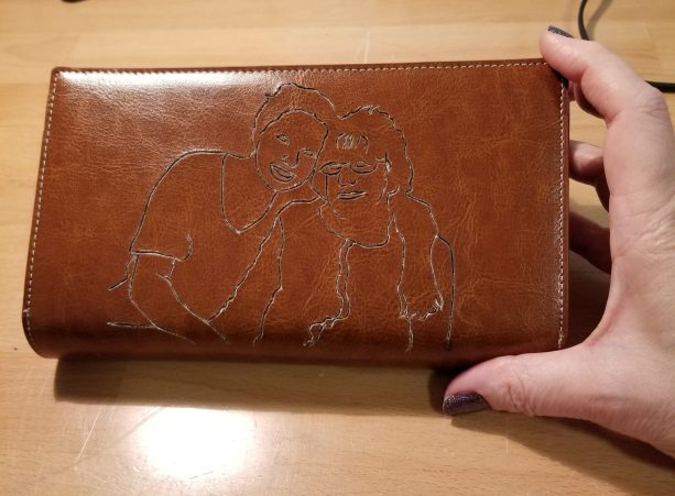Burning - First Wallet - Depicts WHY this is the Wrong Type of Leather