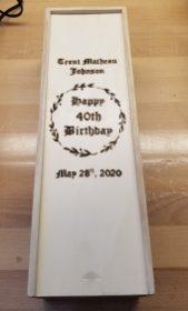 Trent's 40th Birthday Wine Box