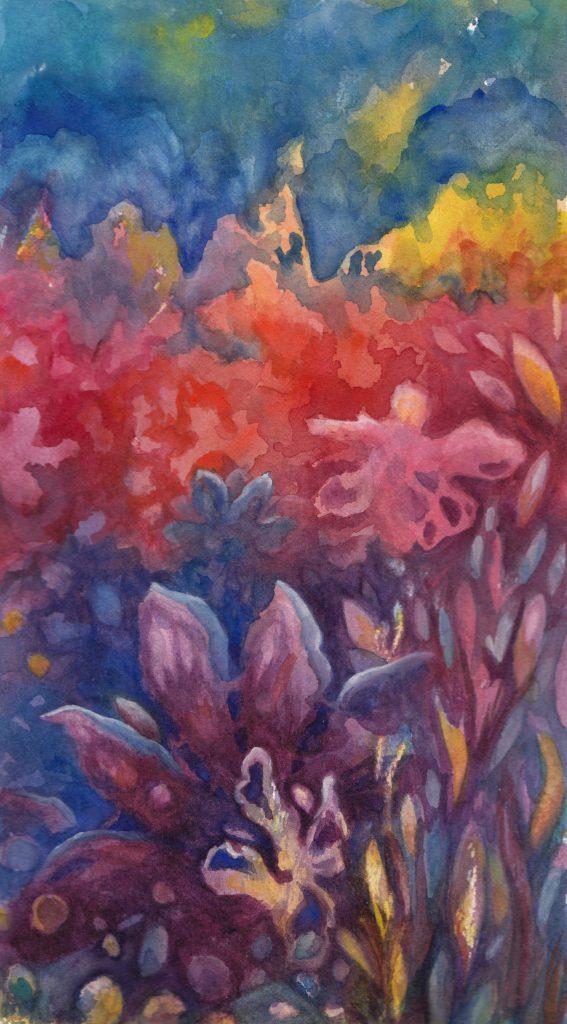 Floral Rainbow watercolor $125