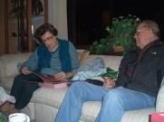 Grandparents opening presents