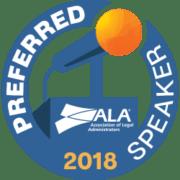 Preferred-Speaker-Badge ALA