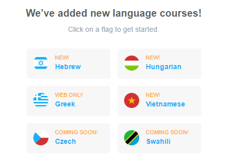 More New Languages at Duolingo – Living With Linguaphilia