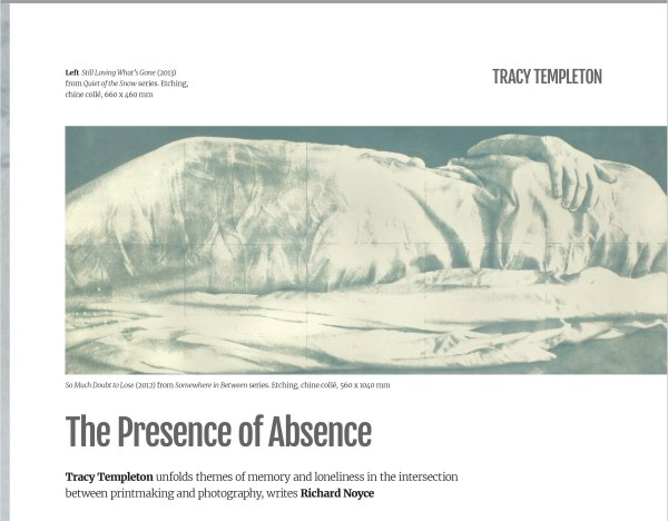 Tracy Templeton: The Presence of Absence, Printmaking Today