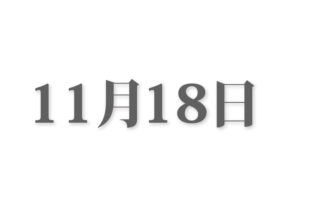 11月18日と言えば? 行事・出来事・記念日|今日の言葉・誕生花・石・星|総まとめ