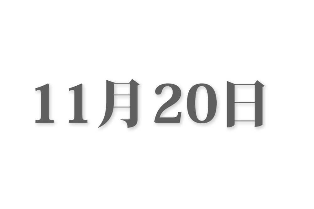 11月20日と言えば? 行事・出来事・記念日|今日の言葉・誕生花・石・星|総まとめ