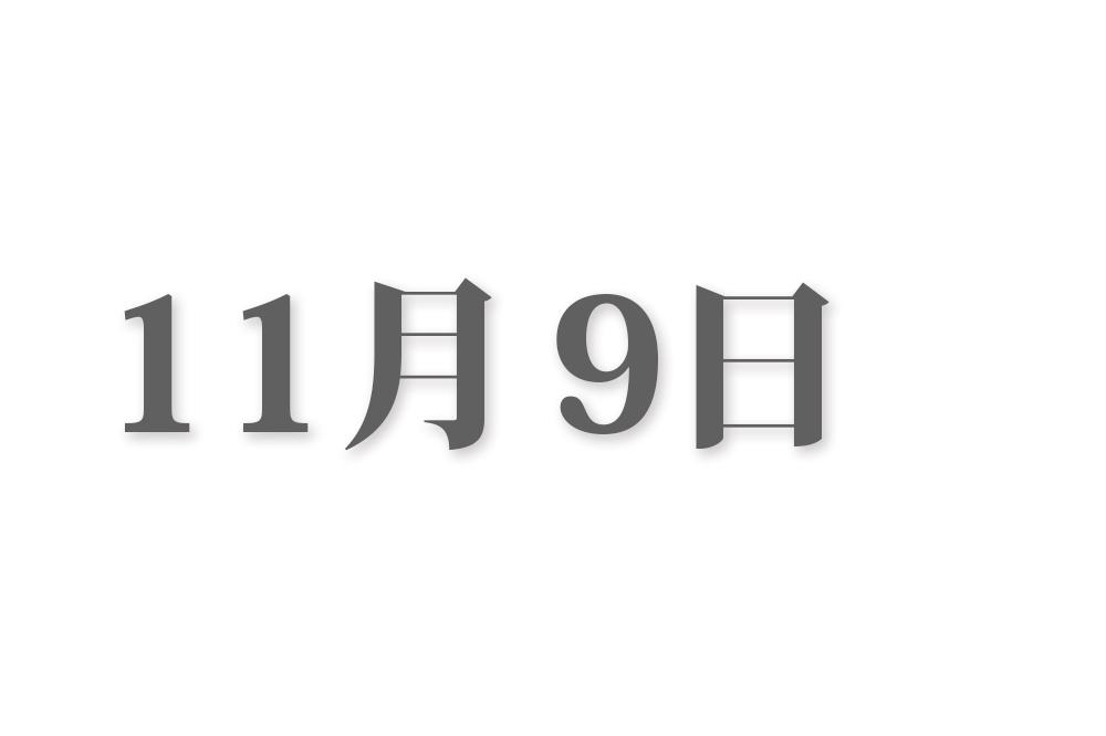 11月9日と言えば? 行事・出来事・記念日|今日の言葉・誕生花・石・星|総まとめ