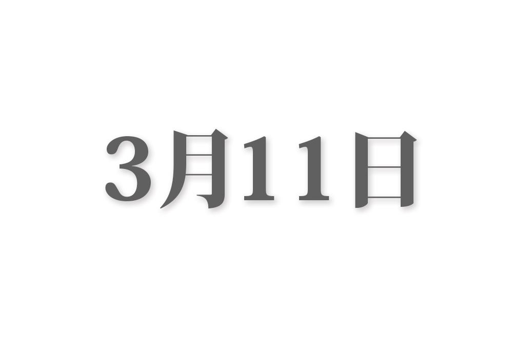 3月11日と言えば? 行事・出来事・記念日|今日の言葉・誕生花・石・星|総まとめ