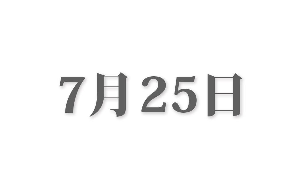 7月25日と言えば? 行事・出来事・記念日|今日の言葉・誕生花・石・星|総まとめ