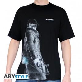 "GUARDARE CANI - Tshirt ""Aiden"" uomo SS nero - basic"